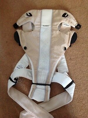 Baby Bjorn baby carrier, light & breathable, great for warm weather. beige/cream