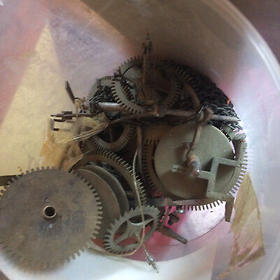 Clock Spares A Tub Of Wheel And Cogs For Clocks