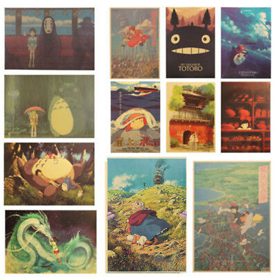 Famous Spirited Away Anime Movie Paper Poster Decorative Painting Wall Pictures