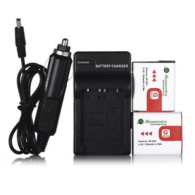 2 Pack NP-BG1 Type G Lithium Ion Battery & Charger for Sony W Series DSLR Camera