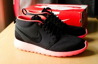 buy popular e8aa2 1223e Nike Roshe Run Mid Black Black Atomic Red Size UK 9 RARE
