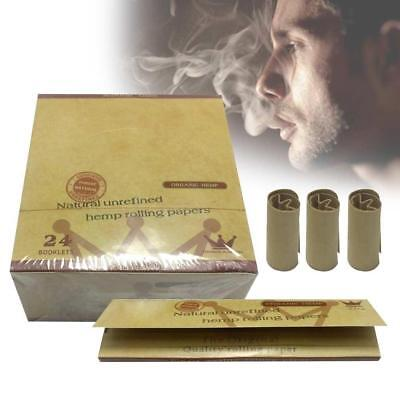 5 Packs Green Brown 110MM Hemp Smoking Cigarette Rolling Paper 32 leaves Nice