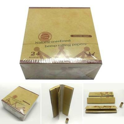 2 Packs Green Brown 110MM Hemp Smoking Cigarette Rolling Paper 32 leaves
