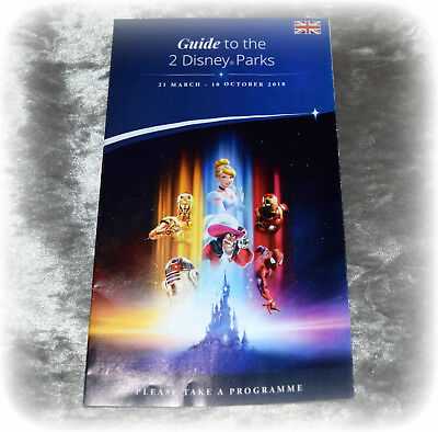 Official Disneyland Paris Park Map Guide To 2 Parks Latest 2018 Map Mar-Oct 2018