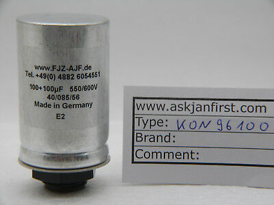 Twin section screw mount electrolytic capacitor  100+100µF 550V/600V FTCap