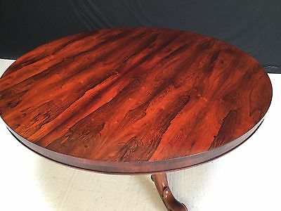 William Iv Rosewood Table Profesionally Hand French Polished
