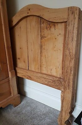 antique pine sleigh bed very old. Refurb upcycle project?