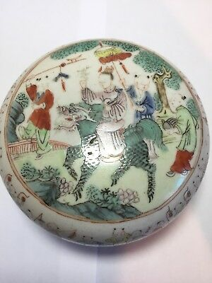 Perfect Antique Chinese Famille Rose Hundred Boys Box And Cover