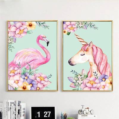 Flamingo Animal Art Canva Picture Print Unframed Paintings Home Wall Decoration