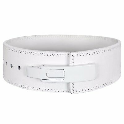 Weight Lifting Lever Belt Power Lifting Belt WHITE GENUINE LEATHER