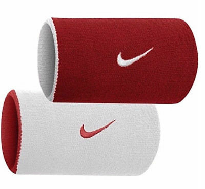 Nike Dri-Fit Wristbands Doublewide Double Wide Home & Away Red White Reversible