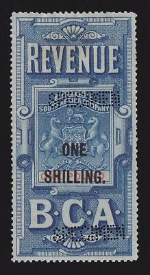 BRITISH CENTRAL AFRICA 1893 Revenue Arms 1/- on £1 SPECIMEN EXTREMELY RARE!