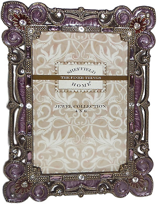 Sheffield Home Jewel Collection 4 X 6 Picture Frame W Genuine