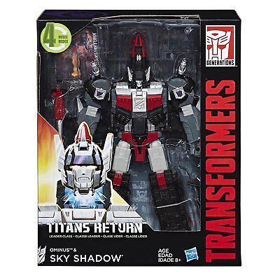 Transformers Leader Class Ominus & Sky Shadow Titans Return action figure new