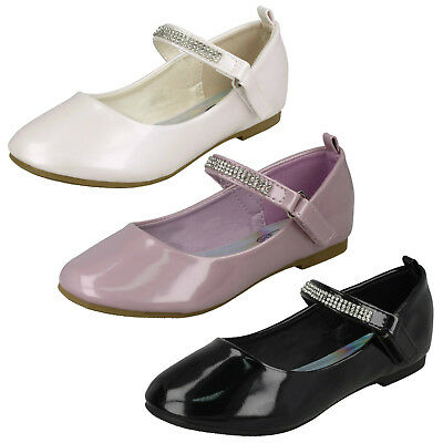 WHOLESALE Girls Patent Ballerinas / Sizes 10-2 / 16 Pairs / HW2485