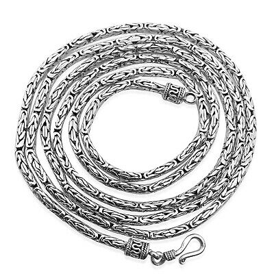 "Bali Handmade Solid Sterling Silver BYZANTINE Chain Necklace  18"" 20"" 24""- 2.5mm"