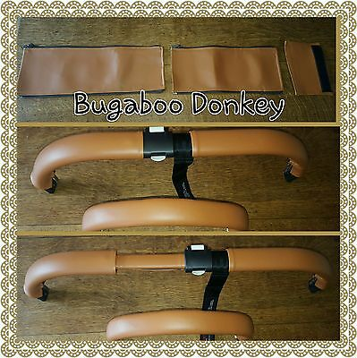 BUGABOO DONKEY zip on handle bar and 1 bumper bar cover tan BRAND NEW