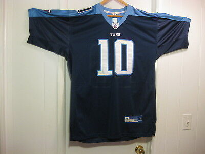Vince Young Tennessee Titans Reebok NFL Equipment SEWN Jersey Adult size 52