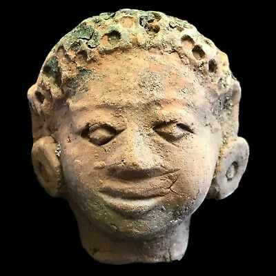 Rare Ancient Indus Valley Terracotta Bust From The Harappa Culture 1200 Bc (2)