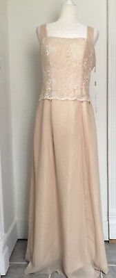 JAEDEN Champagne Lace Mother Of The Bride Dress Gown Wedding Size 12