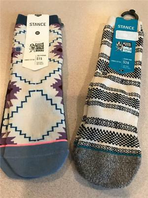 Stance~ Boy's~ Classic Crew Socks~Med/ Large Pattern~ Fun  NWT Free shipping