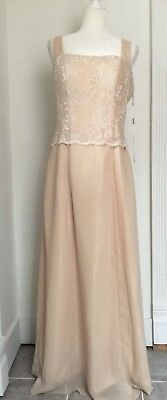 JAEDEN Champagne Lace Mother Of The Bride Dress Gown Wedding Size 16W 18W