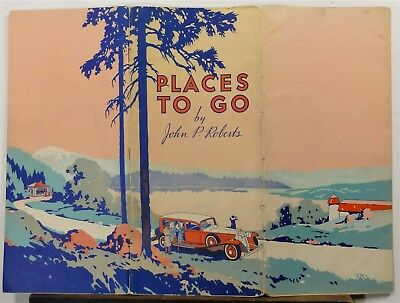 1920's Vintage Midwest Mountain States Standard Oil travel brochure touring car