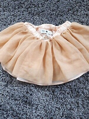 baby girls Marie Chantal for M and S tutu skirt gold 9-12 months cake smash
