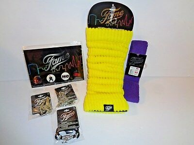 FAME Slouchy Leg Warmers/Headband/Keychain/Necklace/Bracelet and Buttons Lot 6
