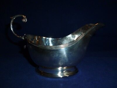 Solid Silver Sauce Boat, Birmingham 1936 by the Maker Adie Brothers Ltd