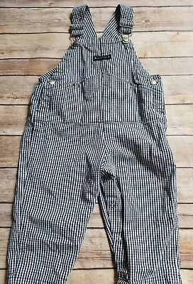 Baby Gap overalls girl boy 18-24 months 2T navy white gingham toddler cotton