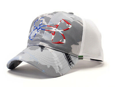 Under Armour UA Fish Hook Logo Ridge Reaper® Hydro Camo USA Flag Mesh Back Cap