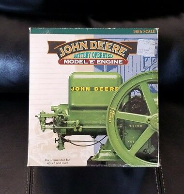John Deere  1/6 scale Battery Operated  ☆MODEL 'E' ENGINE☆  ~New in Box~