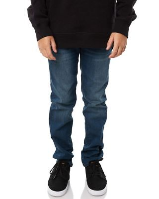 New Volcom Boys Kids Boys Vorta By Jeans Cotton Fitted Elastane Blue