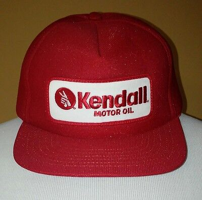 Kendall Motor Oil Hat Red Auto Collector Snap Back USA Vintage
