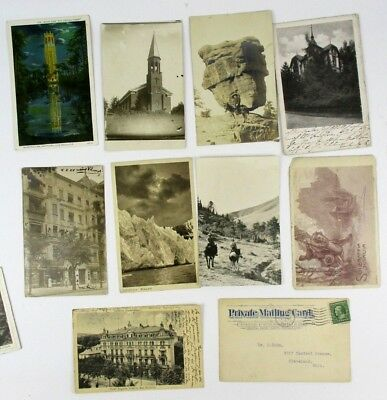 Set of 10 Vintage Postmarked Postcards from 1910 to 1957 - Most to Dr. Max Kahn