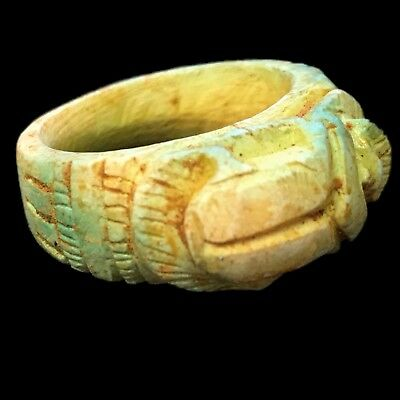 Very Rare Ancient Egyptian Ring 300 Bc (3)