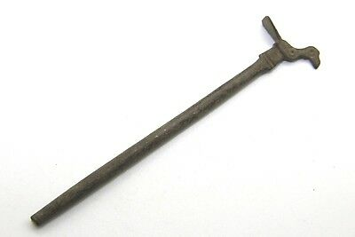 Museum Quality.ancient Roman Voting Stick. Bronze. Bird Shape.    L136