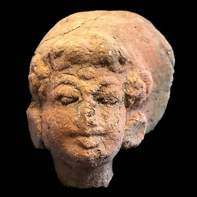 Rare Ancient Indus Valley Terracotta Bust From The Harappa Culture 1200 Bc (4)