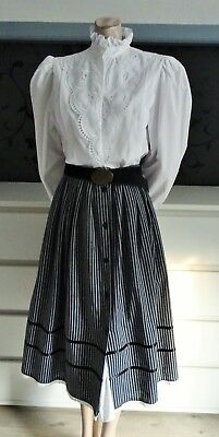 German Bavarian Dirndl Skirt + Blouse + Belt 8