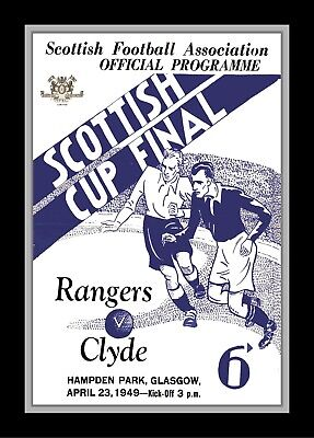Collectors/Photograph/Print/7 x 5 Photo/1949 Scottish Cup Final/Rangers v Clyde