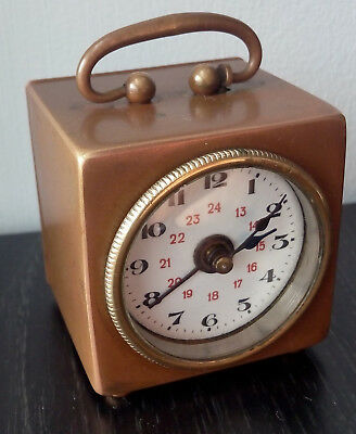 Vintage Travel Alarm Clock DRP & GM Rare Collectible Working