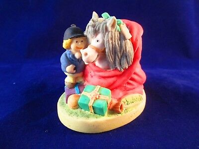 "Thelwell ""Four Hooves for Christmas"" 1989 Porcelain Figurine Made in England"