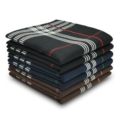 Men Handkerchief Set Of 6-Pcs 3-Colors 100% Cotton Gift For Any Occasion Classic