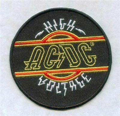 ACDC HIGH VOLTAGE IRON ON PATCH  buy 2 get 1 free