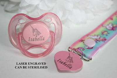 Personalised Unicorn Avent Dummy ** CAN BE STERILISED ** More Colours **