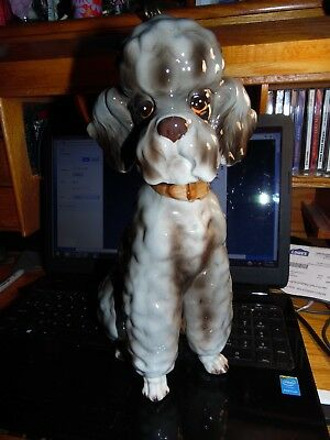 "The Kennel Club by Shafford 12"" Tall ""Topsy"" Poodle Dog Ceramic Figurine as Pic'"
