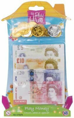 Childrens Kids Play Fake Pretend Money Role Shop Cash £ Pound Notes Coins Toy
