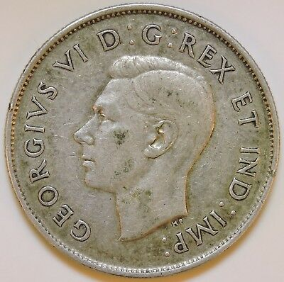 Canada 1943 Silver 50 Cents - K7