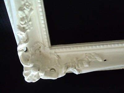 """Large White Shabby Chic Vintage Wooden Frame fits 20"""" x 28"""" Gesso?"""